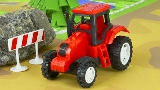 Трактор и Грузовик - Мультфильмы про машинки - Детские мультики - Строительные машинки