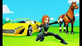 Мультик игра для детей Чёрная вдова, лошадки и гонки Тачки Машинки Дисней Маквин Disney Pixar Cars