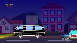 Полицейский Вор Преследует | Полицейский Автомобиль, Вертолет, Велосипед | Полицейский Автомобиль П