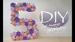 Цифра из бумаги на День Рождение - DIY Tsvoric