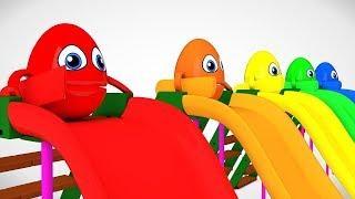 Смешные сюрпризы Яйца Скейтборд Изучайте цвета 3D-анимационные мультфильмы Детские рифмы