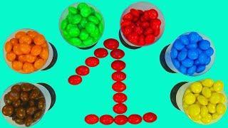 Учим цифры Развивающие мультики для детей Учимся считать от 1 до 10 Конфеты M&Ms Сборник для малышей