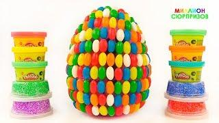 Огромное Play Doh Яйцо Сюрприз Фини  Учим Цифры Плей Дох от 1 до 20   Учим цвета с Плей До для детей