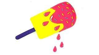Пластилин плей до для детей  Учим цвета и формы  Лепим мороженое из пластилина  Развивающее видео