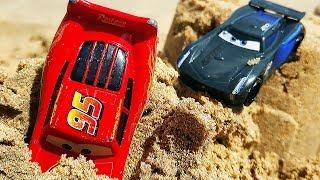 Мультики про МАШИНКИ Маквин м Джексон Шторм ГОНКИ по песку. Мультики для мальчиков Машинки Тачки 3