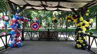 Оформление шарами за 5 тыс. (летняя веранда) Капитан АМЕРИКА /Бэтмен