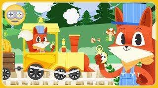 Паровозик и Лисенок - Железная дорога зверят * мультик игра для детей