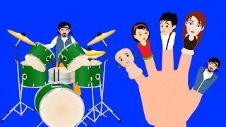 Семья пальчиков рок-музыкантов   Детские песни   Rock Stars Finger Family