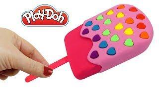 Плей До пластилин Лепим мороженое и Учим цвета радуги Поделки из пластилина Play Doh своими руками