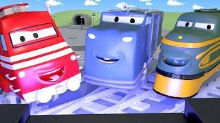 Поезд Трой -  Трой открывает КИНОТЕАТР в Железнодорожном Городе! - детский мультфильм