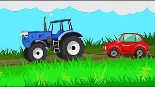 Песенка для детей синий трактор. Мультфильм про машинки.  Развивающие мультики.