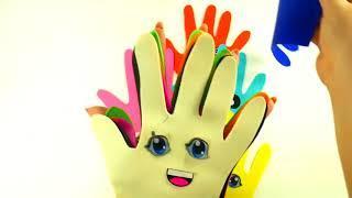 Учим цвета с шариками Сборник Учим цвета с песенкой Пальчиковые краски Развивающая Песня про пальчи
