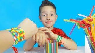 DIY Поделки из цветных трубочек ТОП 5 / Видео для детей