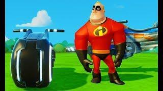 Машинки Мультики Игры для мальчиков Гонки Тачки и Мистер Исключительный Суперсемейка Disney Cars