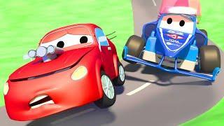 Супер гоночный грузовик - Трансформер Карл в Автомобильный Город