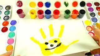 Учим цвета с шариками Сборник Учим цвета с веселой песенкой Развивающая песня Про Пальчики Детские