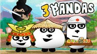 ПРИКЛЮЧЕНИЯ ТРИ ПАНДЫ в ЯПОНИИ мультик игра для детей и малышей KIDS CHILDREN