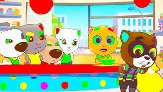 ГОВОРЯЩИЙ ТОМ БЕГ ЗА СЛАДОСТЯМИ #83 мультик игра для детей ТОМ АНЖЕЛА ХЭНК И ДЖИНДЖЕР друзья