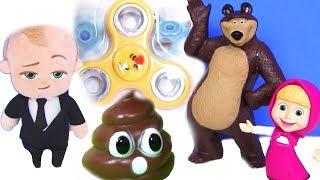 Маша и Медведь Новые Серии 2017 года #Игрушки! Босс Молокосос #Видео для детей