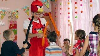 Аниматор на детском празднике. День рождения. Ульяне и Роме по 6 лет.