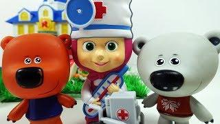 Маша Доктор и Ми-Ми-Мишки Кеша Тучка Лисичка- Мультики для детей Игрушки Маша и Медведь и Мимимишки