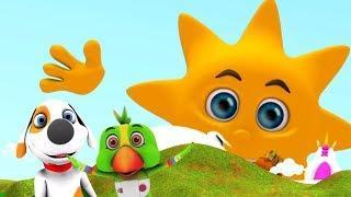 Г-н Золотое солнце | детские стишки | 3D-песня | мультфильмы для детей | Little Treehouse | Mr. Sun