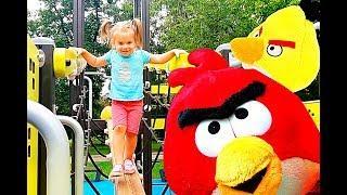 Видео Для Детей Angry Birds Игрушки Энгри Бердз. Детская площадка Angry Birds play park