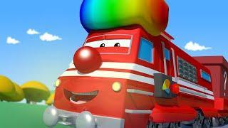 Поезд Трой -  Трой развлекает Лорда Байрона Колесом Обозрения! - детский мультфильм