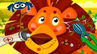 Доктор Кэт - лечу животных в джунглях | Звери заболели | Мультик игра для детей |