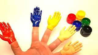 Ручки на пальчиках Learn colors Учим цвета Учимся рисовать Песня про пальчики Пальчик где же ты #Hel